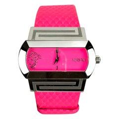 Versace Fluo Fuchsia PSQ 99 Ladies Hippodrome Wrist Watch