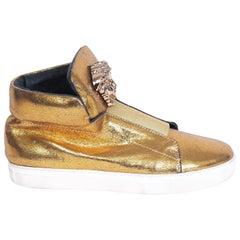 Versace Gold Logo Shoes (43 EU)