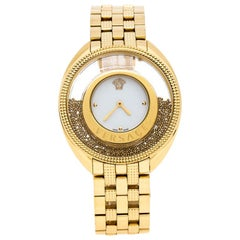 Versace Gold Stainless Steel Destiny Spirit 86Q Women's Wristwatch 39 mm
