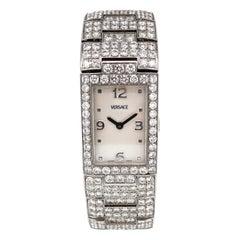 Versace Greca Diamond Stainless Steel Quartz Bracelet Wristwatch