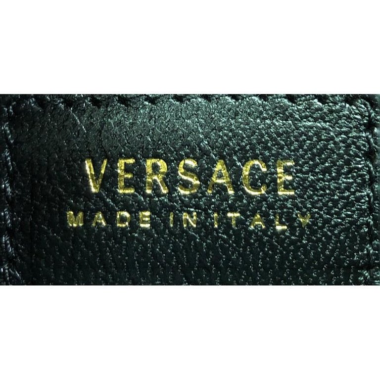 Versace Icon Flat Crossbody Bag Quilted Leather For Sale 2