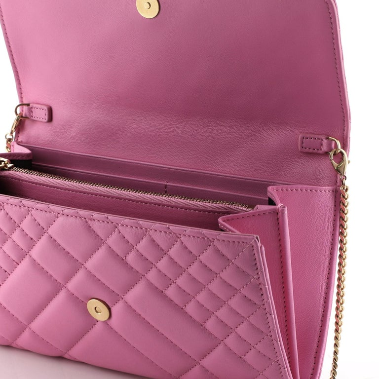 Versace Icon Wallet on Chain Quilted Leather For Sale 1