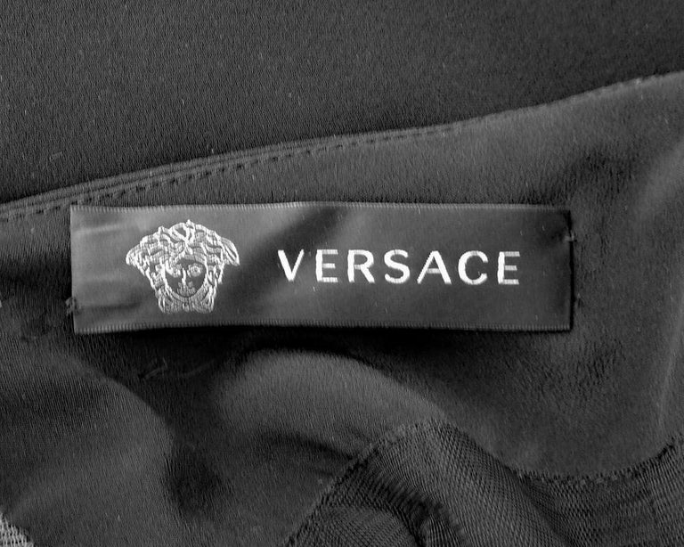 Versace Iconic New Version of the Safety Pin Evening Dress   New For Sale 5