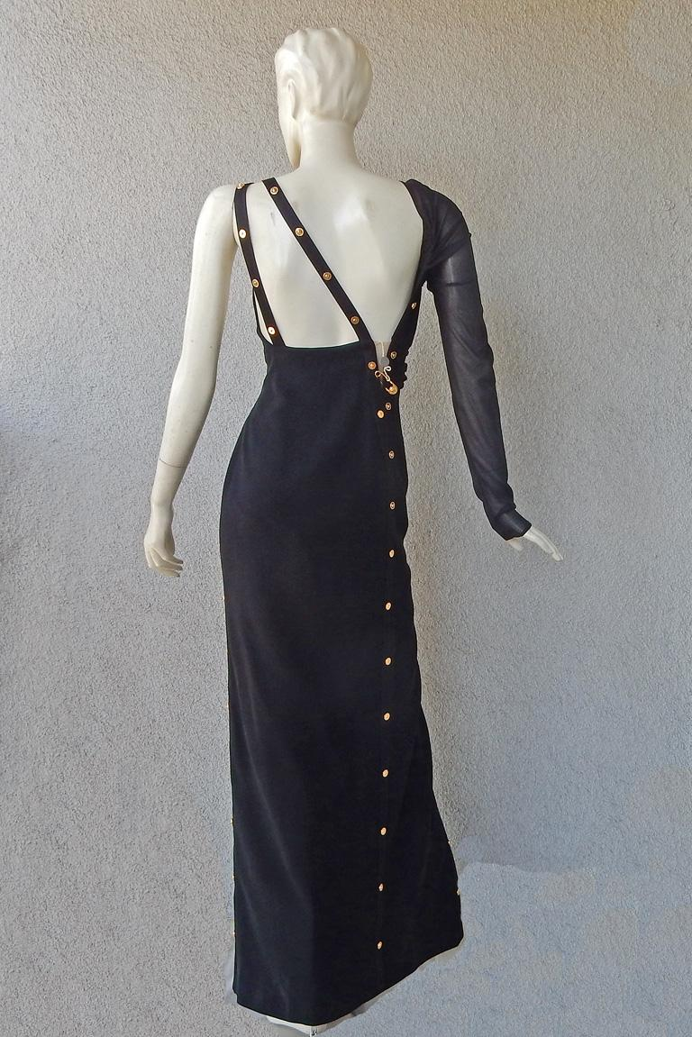 Versace Iconic New Version of the Safety Pin Evening Dress   New For Sale 4