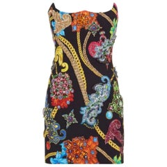 VERSACE INVERTED HEART JEWEL EMBELLISHED DRESS as seen on Naomi 40 - 4