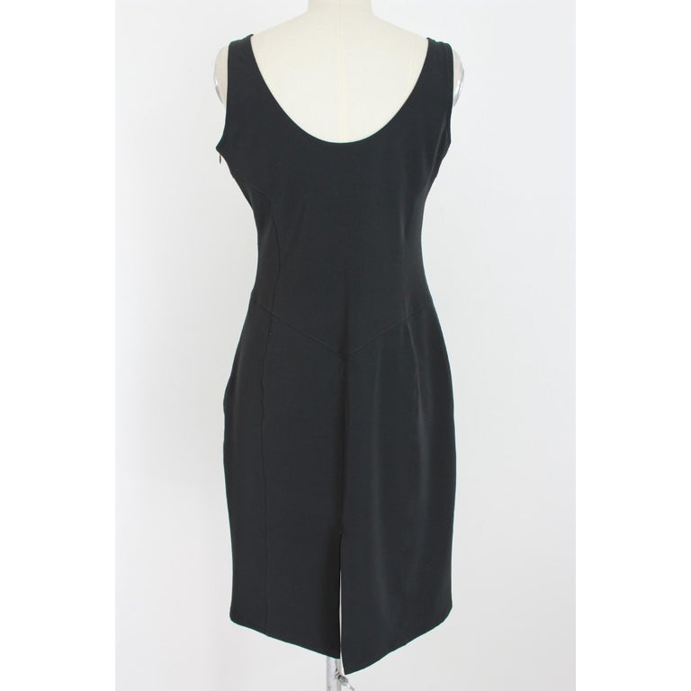 Versace Jeans Couture Black Sheath Dress Evening Black In Excellent Condition For Sale In Brindisi, Bt