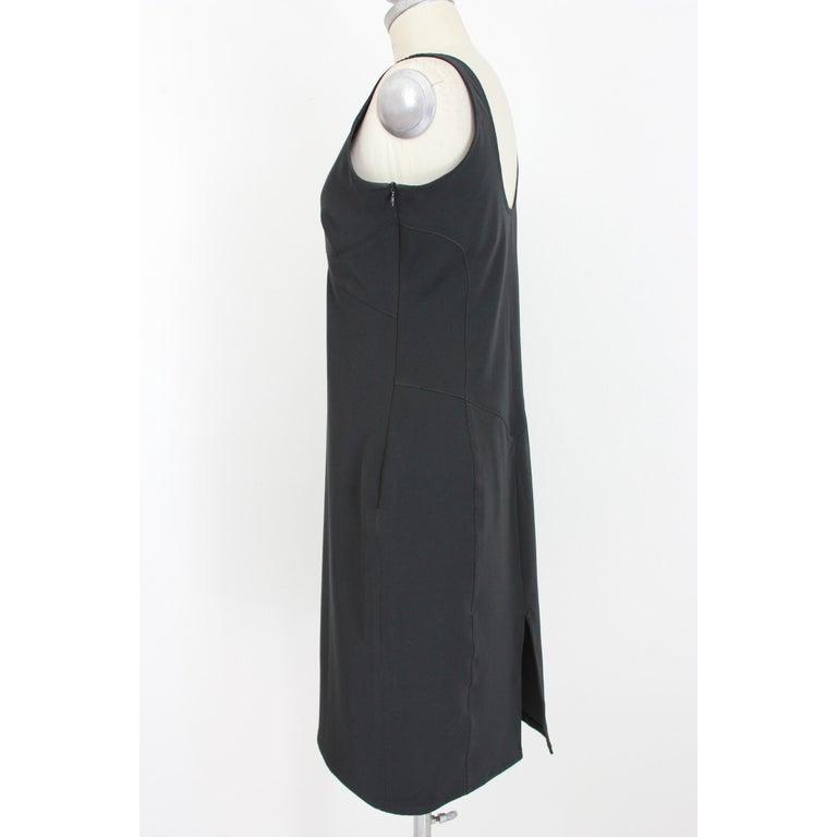 Women's Versace Jeans Couture Black Sheath Dress Evening Black For Sale