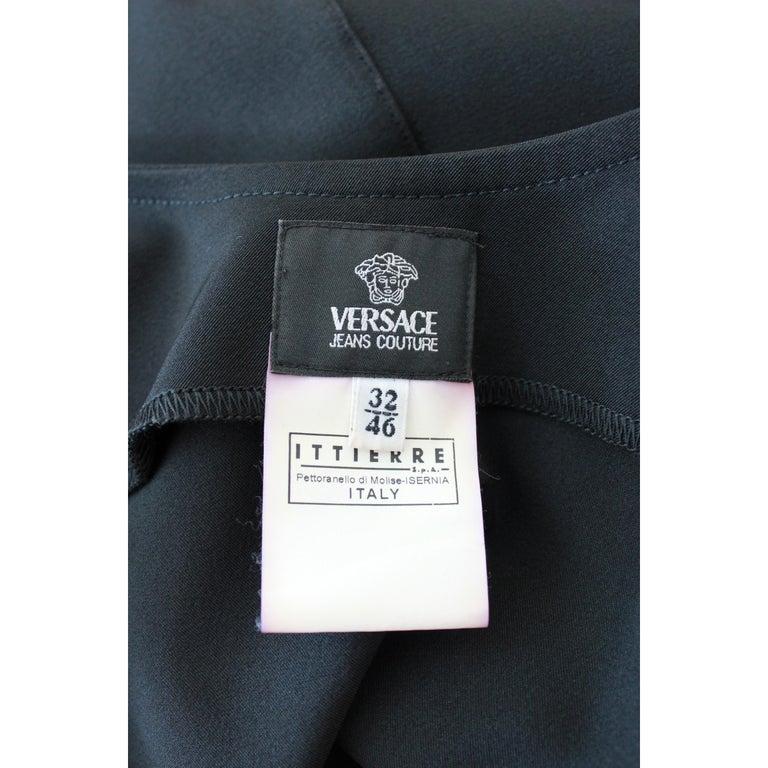 Versace Jeans Couture Black Sheath Dress Evening Black For Sale 2