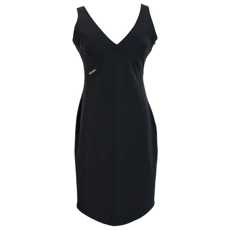 Versace Jeans Couture Black Sheath Dress Evening Black For Sale