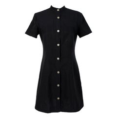 Versace Jeans Couture Black Short Casual Sheath Dress