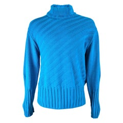 Versace Jeans Couture Mens Vintage Turquoise Sweater