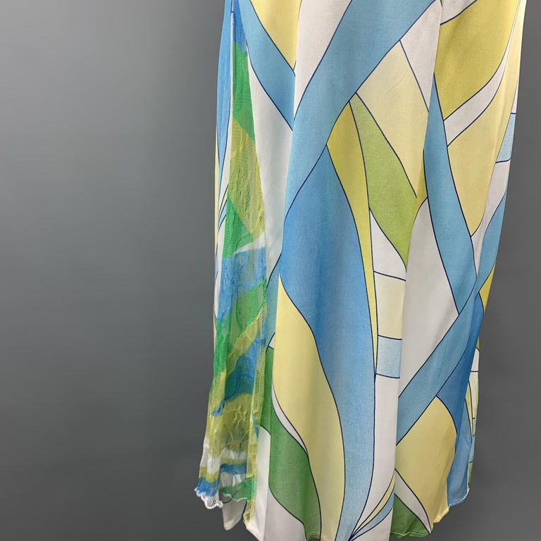 Versace Jeans Couture Size 12 White Green Yellow And Blue