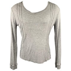 VERSACE JEANS COUTURE Size M Gray Modal Scoop Neck Pullover Sweater