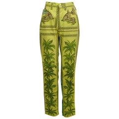 Versace Jeans Couture Vintage 1990s Tarzan Jungle Print Pants