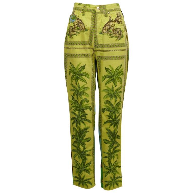 size 34\u201d-36\u201d x 31\u201d Medusa Gianni Vintage Versace Straight Leg Dress Pants