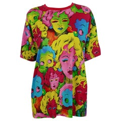 Versace Jeans Couture Vintage Marilyn Monroe Betty Boop Cotton T-Shirt