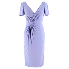 Versace Knot Front Knee Length Lavender Dress S 38