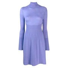 Versace Lavender Wool Dress