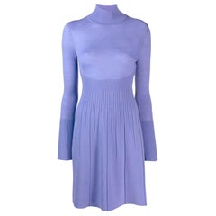 Versace Lavender Wool Dress