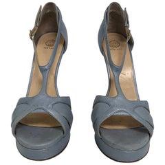 VERSACE light blue strappy heels