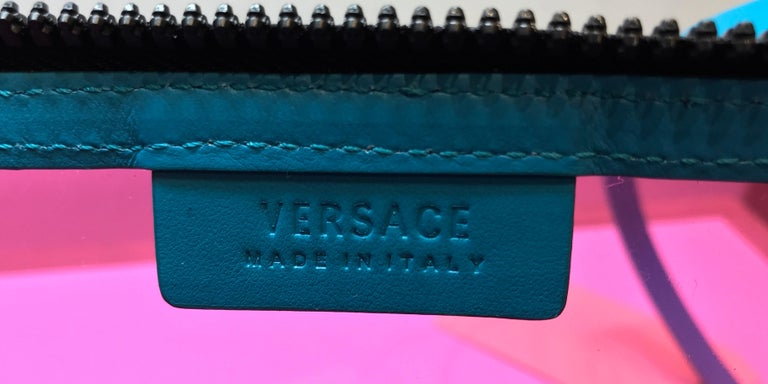 Versace Logo Clutch PVC For Sale 3