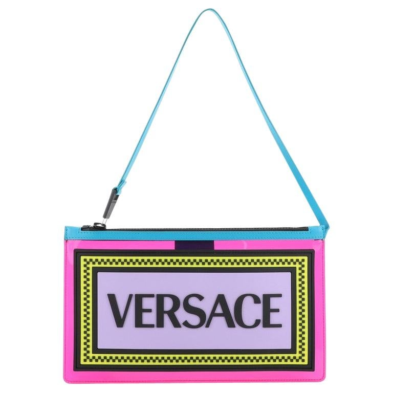 Versace Logo Clutch PVC For Sale