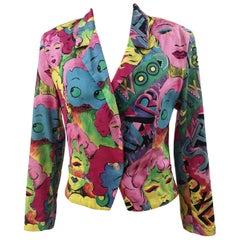Versace Marilyn Monroe Betty Boop Cartoon Blazer Jacket