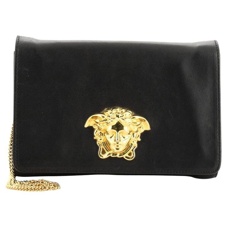 Versace Medusa Chain Clutch Leather Small