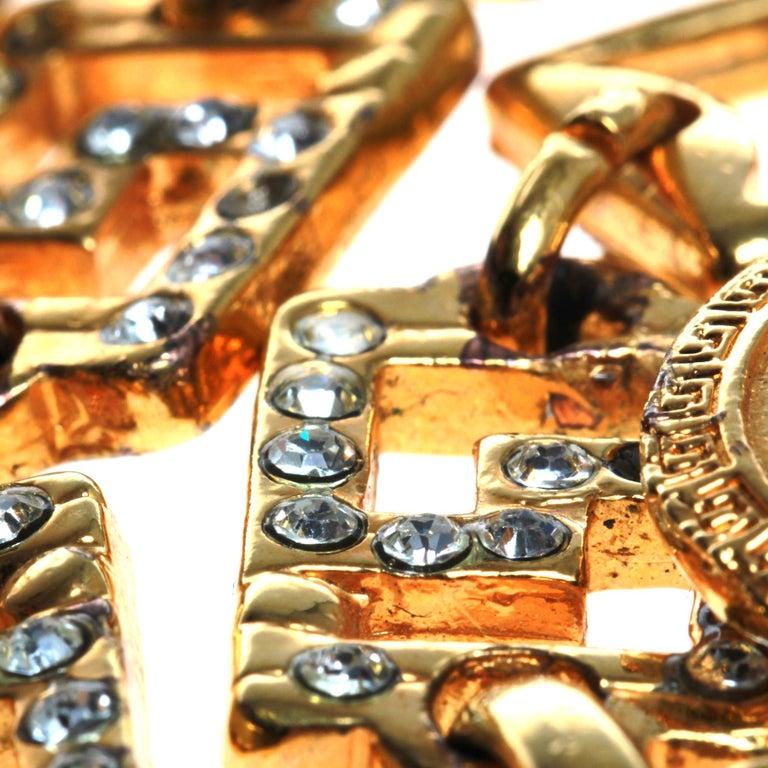 Women's Versace Medusa Head Chain Belt For Sale
