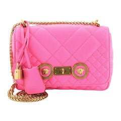 Versace Medusa Padlock Icon Flap Bag Quilted Leather Small