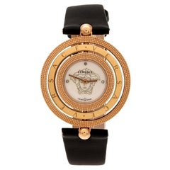 Versace Mother of Pearl Gold Plated Stainless Eon 80Q Women's Wristwatch 39 mm