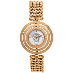 Versace Mother of Pearl Rose Gold Plated Stainless Steel Eon 80Q Women's Wristwa
