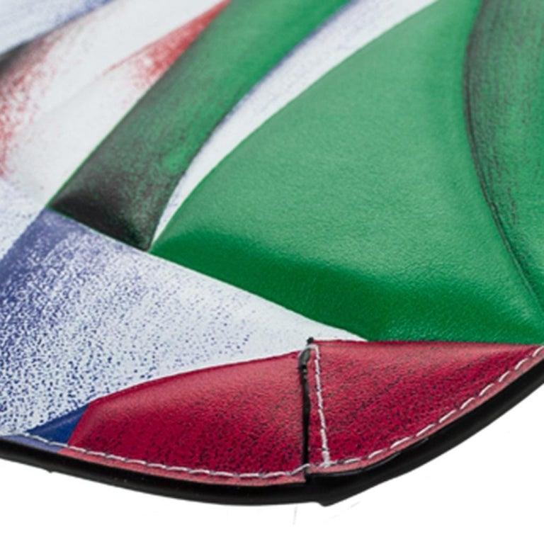Versace Multicolor Clash Print Icon Leather Wristlet For Sale 4