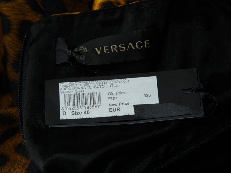 Versace Multicolor Mixed-Print Shift Dress In Good Condition For Sale In New York, NY