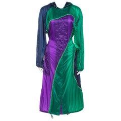 Versace Multicolor Nylon Long Raincoat S