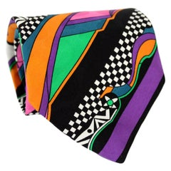 Versace Multicolor Silk Baroque Polka Dot Tie