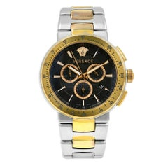 Versace Mystique Sport Two-Tone Steel Black Dial Quartz Men's Watch VFG100014