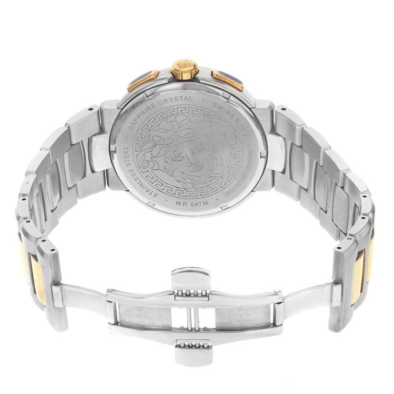 Versace Mystique Steel Chronograph Black Dial Quartz Men's Watch VFG100014 For Sale 1