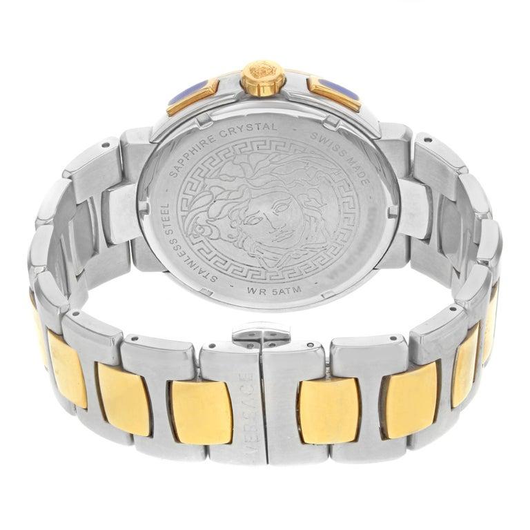 Versace Mystique Steel Chronograph Black Dial Quartz Men's Watch VFG100014 For Sale 2