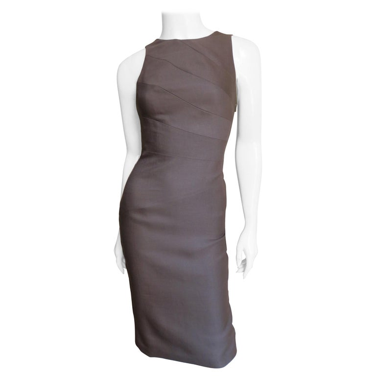 Versace New Bodycon Spiral Seamed Dress For Sale