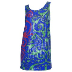Versace New Print Silk Dress