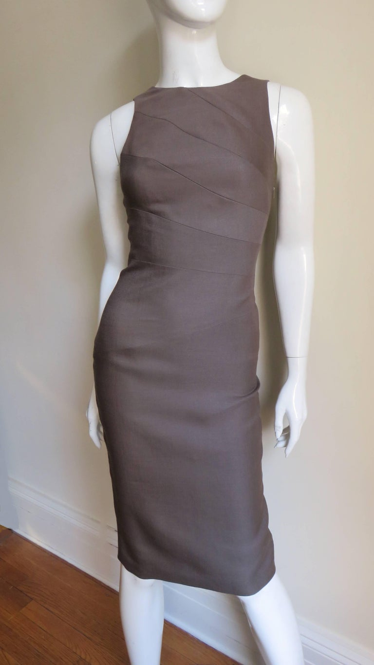 Versace New Bodycon Spiral Seamed Dress For Sale 1