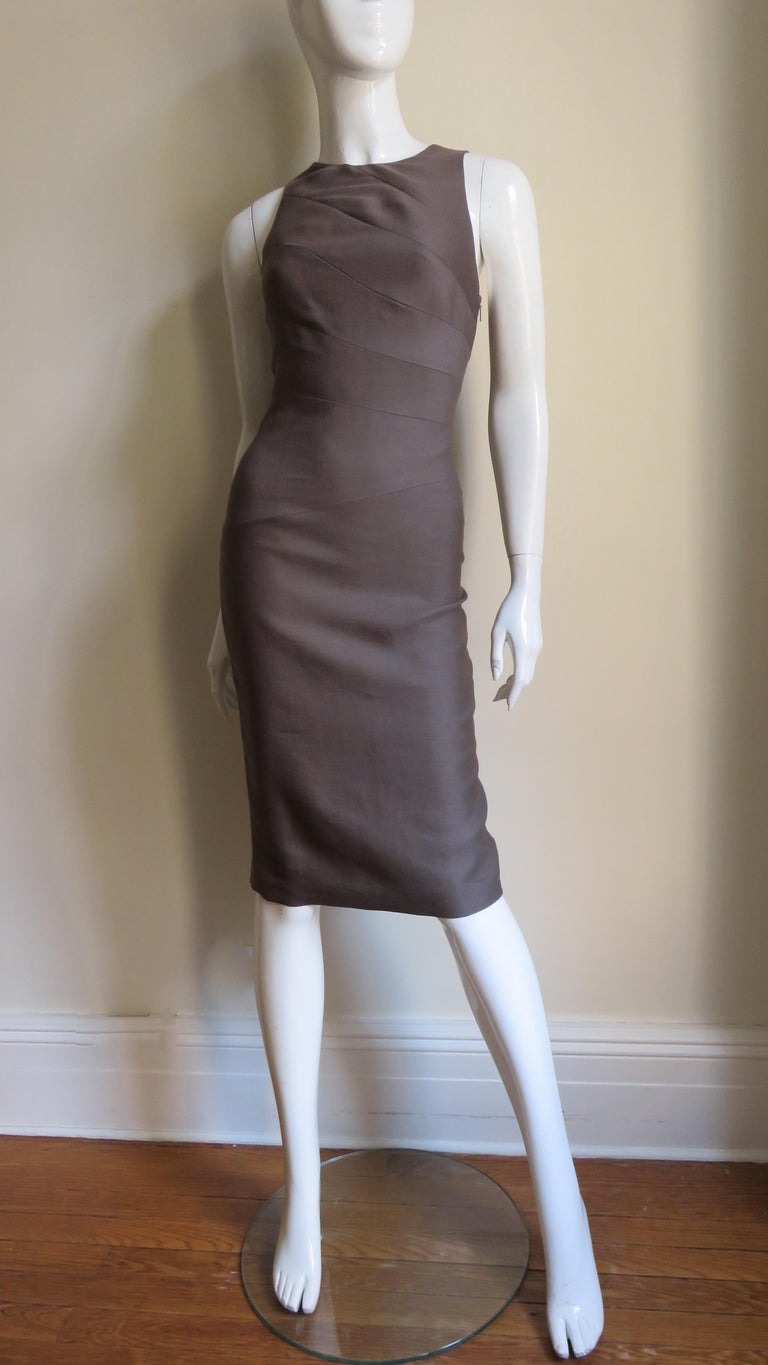 Versace New Bodycon Spiral Seamed Dress For Sale 2