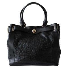 Versace Ostrich Print Bag