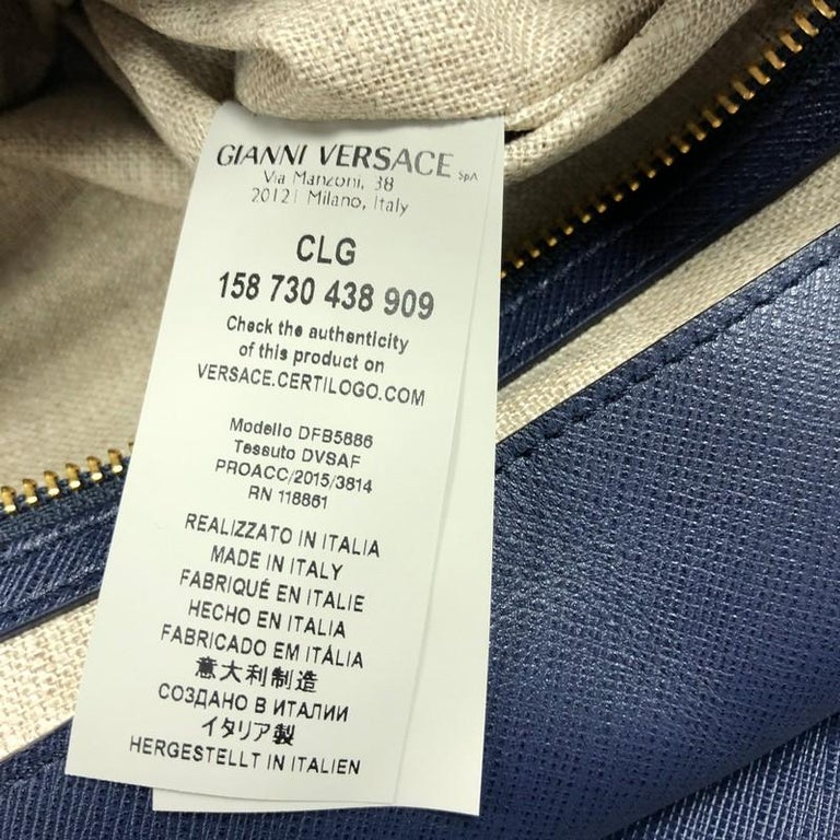 Versace Palazzo Empire Bag Leather XL For Sale 6