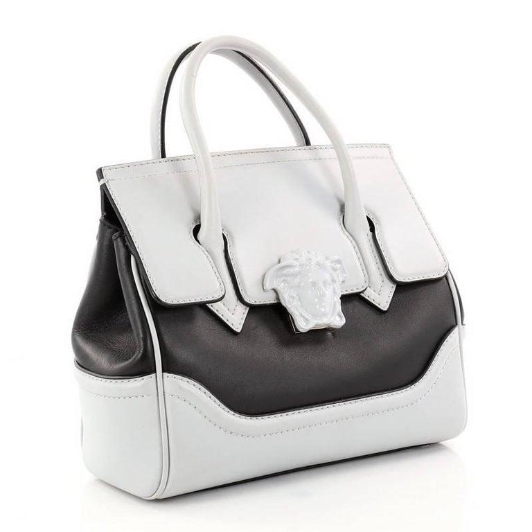 c1ebb13c4d0 Gray Versace Palazzo Empire Handbag Leather Medium For Sale
