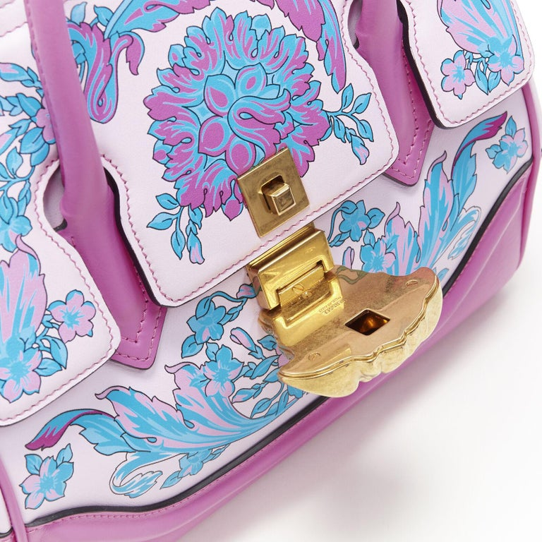 VERSACE Palazzo Empire Small Technicolor Baroque pink Medusa tote bag 5