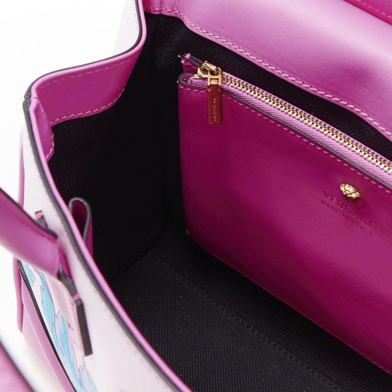 VERSACE Palazzo Empire Small Technicolor Baroque pink Medusa tote bag 7