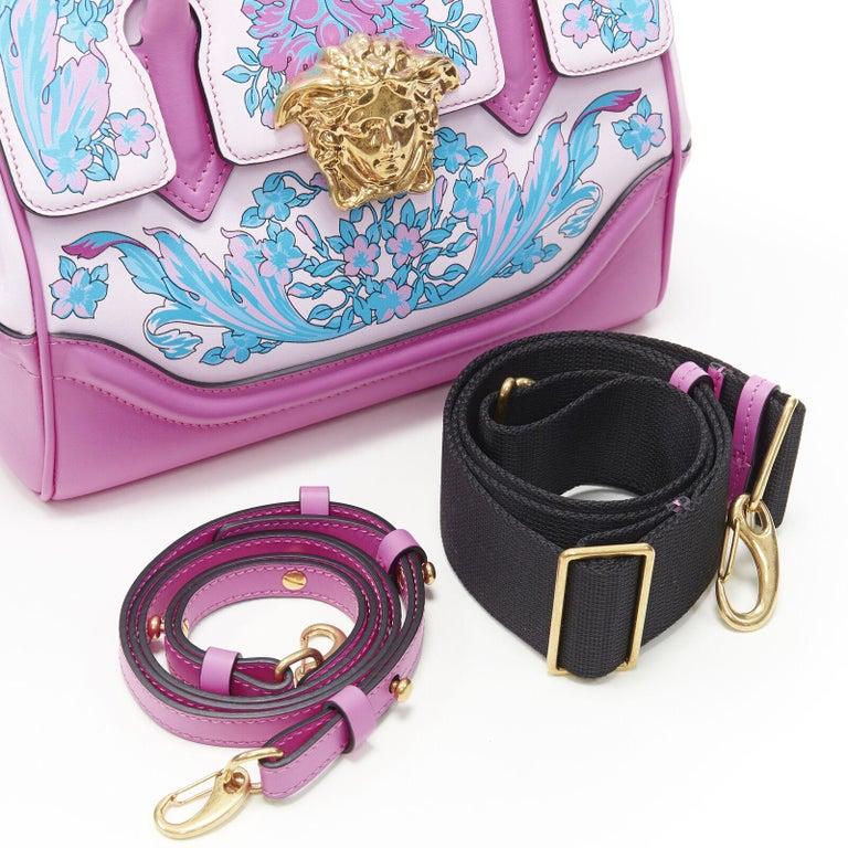 VERSACE Palazzo Empire Small Technicolor Baroque pink Medusa tote bag 2