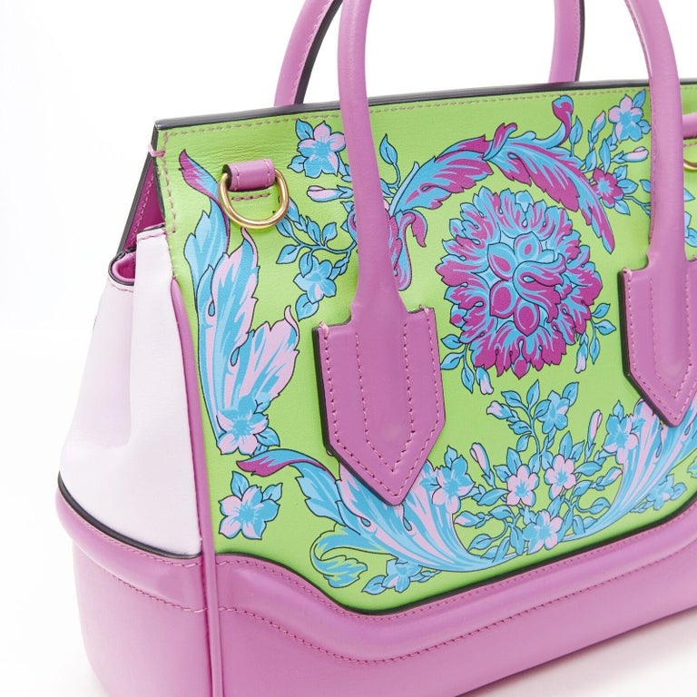 VERSACE Palazzo Empire Small Technicolor Baroque pink Medusa tote bag 3